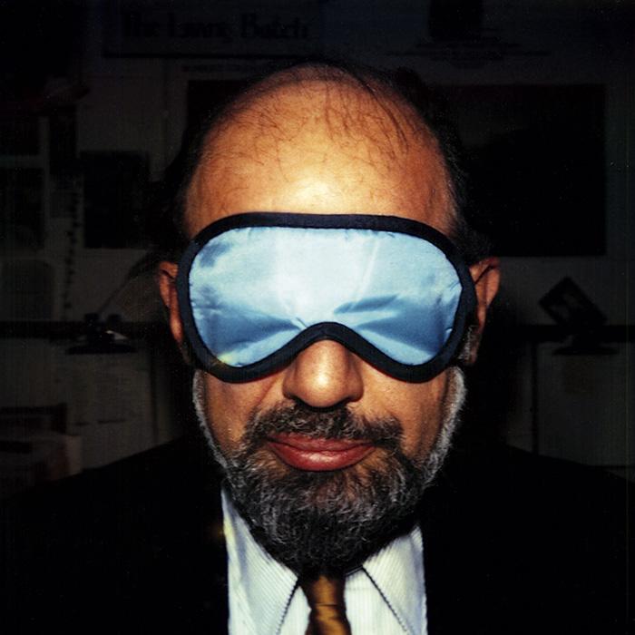 Das Bild zeigt ein Portrait von Allen Ginsberg von Freddy Langer