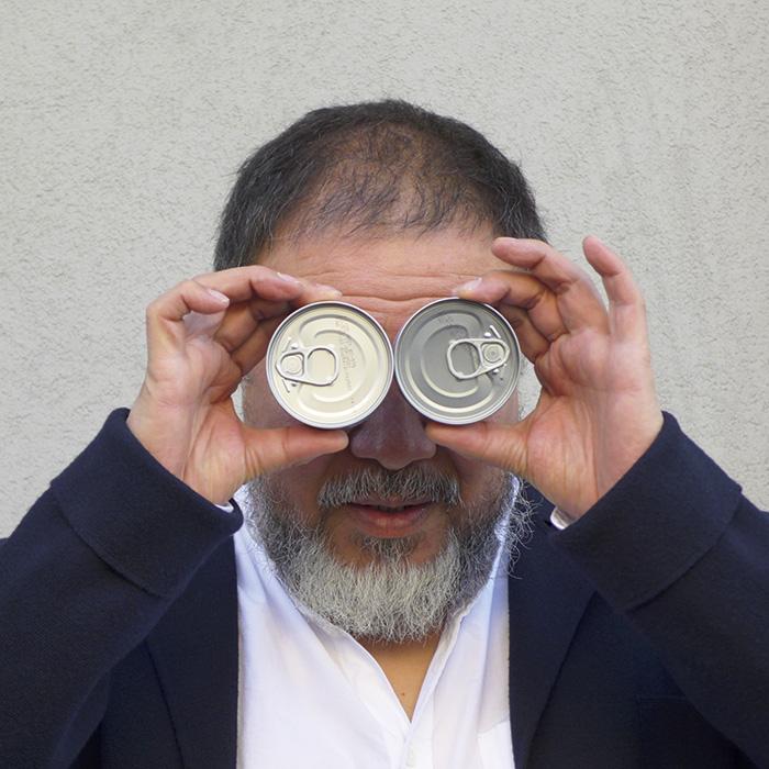 Das Bild zeigt ein Portrait von Ai Weiwei von Freddy Langer