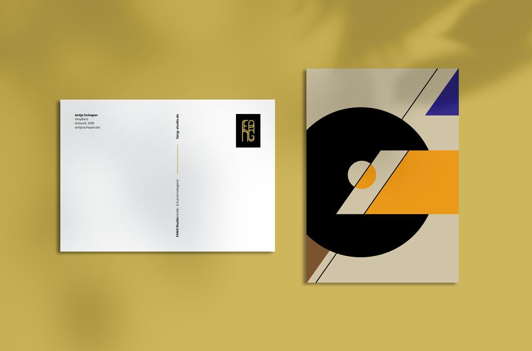 Antje Schaper – Vinylbird (Postkarte)