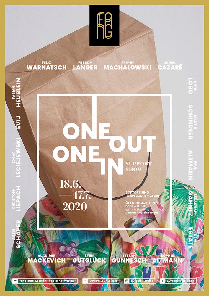 One out – One in – Ausstellungsplakat – Antje Schaper