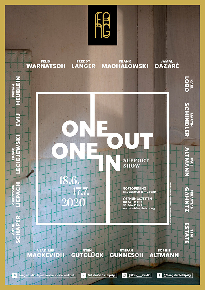 One out – One in – Ausstellungsplakat – Christoph Liepach