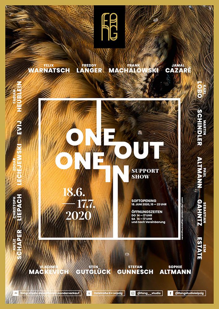One out – One in – Ausstellungsplakat – Edgar Leciejewski