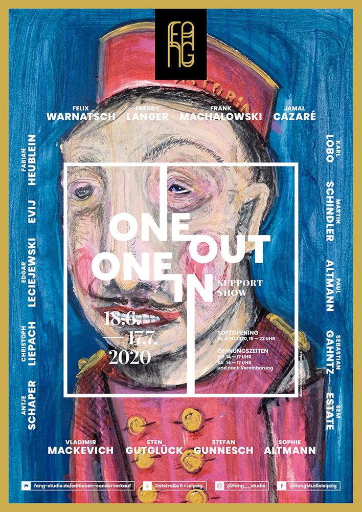 One out – One in – Ausstellungsplakat – Martin Schindler