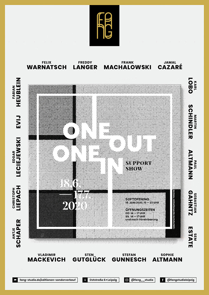 One out – One in – Ausstellungsplakat – Sem Estate