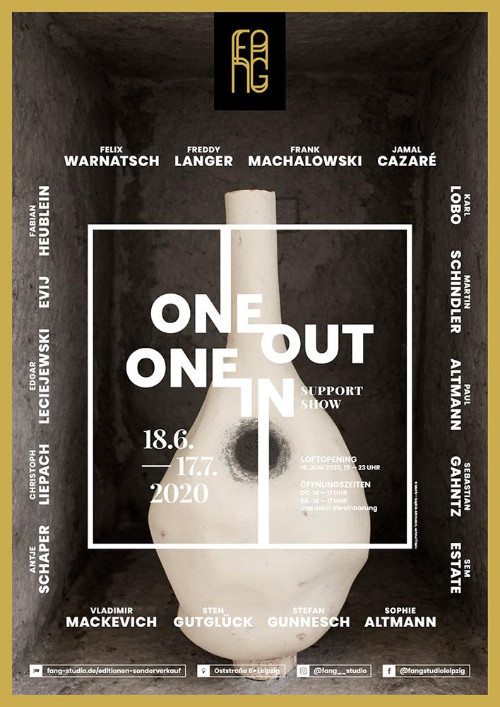 One out – One in – Ausstellungsplakat – Sophie Altmann