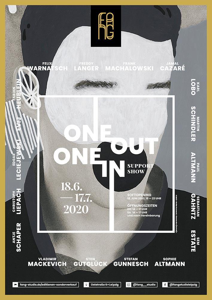 One out – One in – Ausstellungsplakat – Stefan Gunnesch