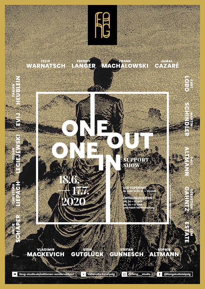 One out – One in – Ausstellungsplakat – Sten Gutglueck