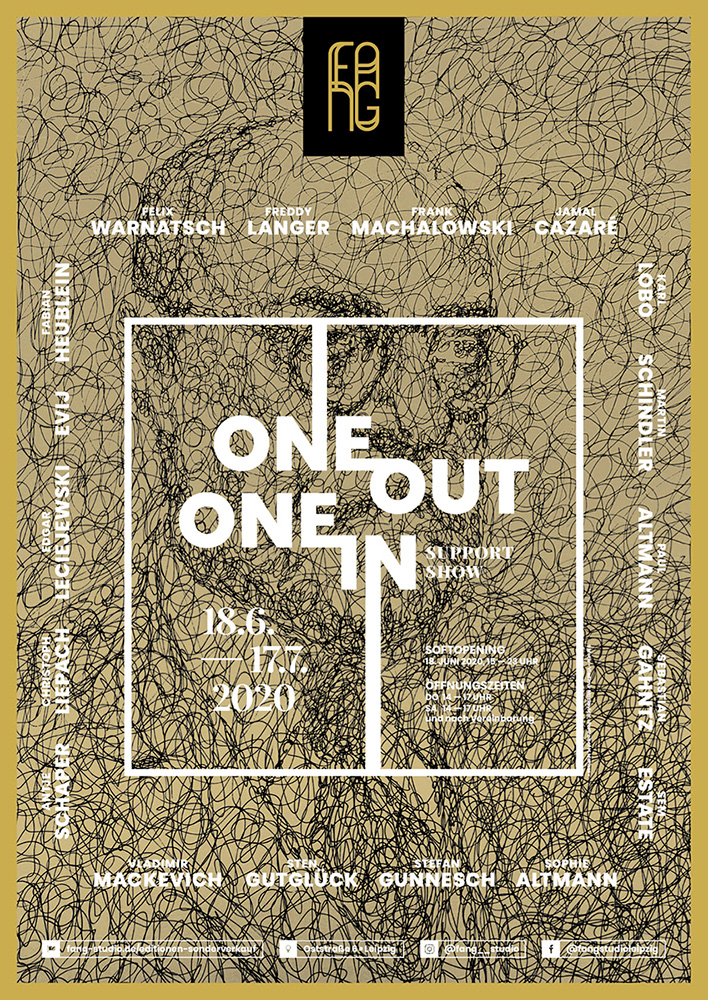 One out – One in – Ausstellungsplakat – Vladimir Mackevich