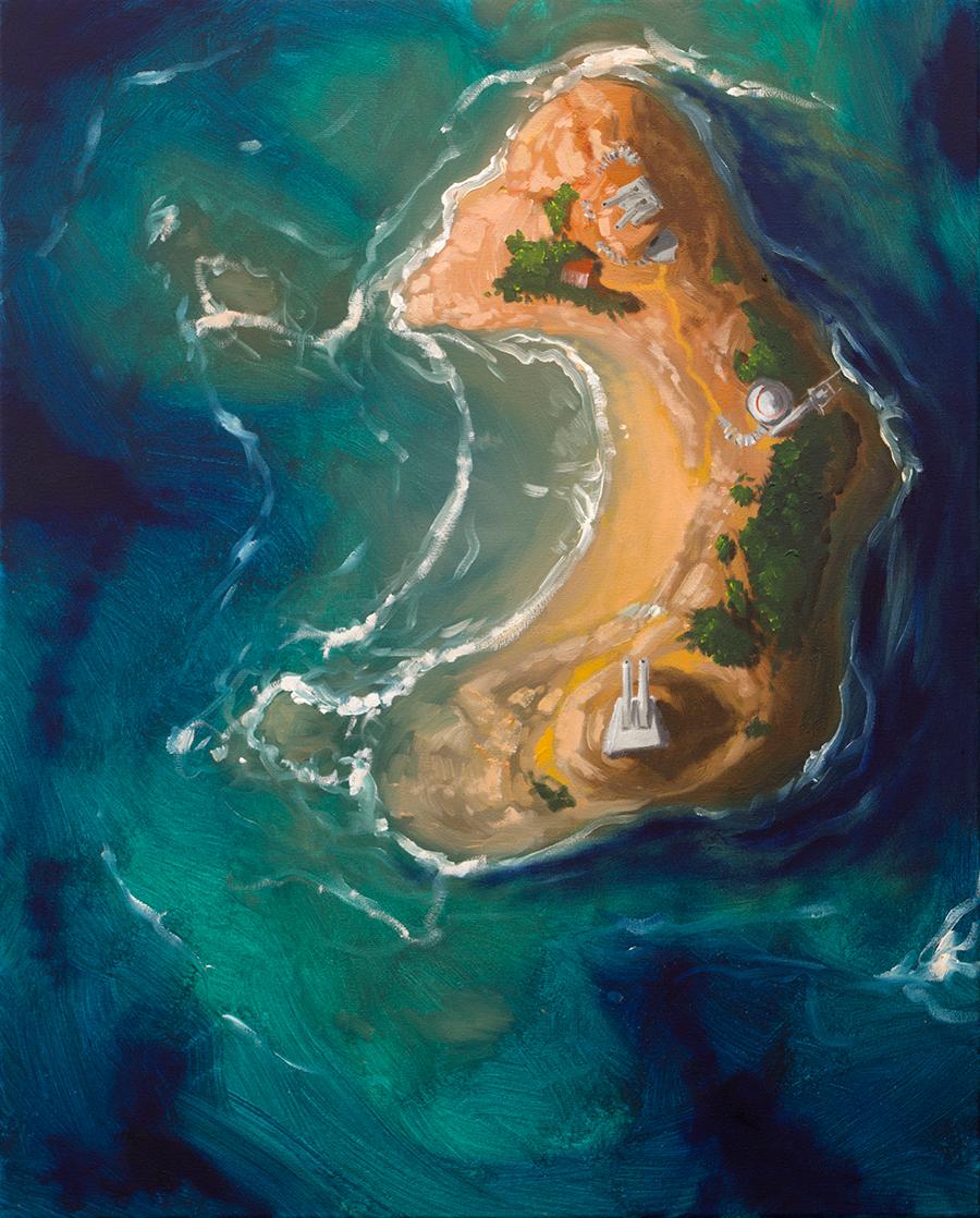 Sebastian Gahntz . Insel II Kanonen