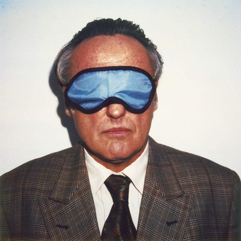 Das Bild zeigt ein Portrait von Dennis Hopper von Freddy Langer