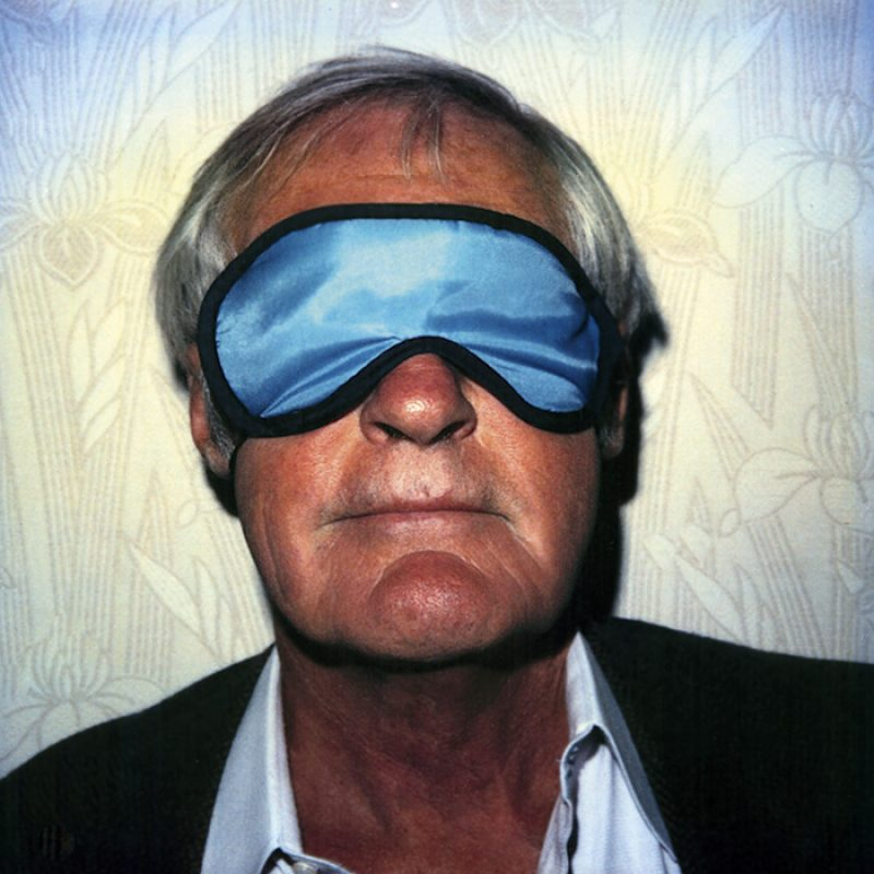 Das Bild zeigt ein Portrait von Timothy Leary von Freddy Langer