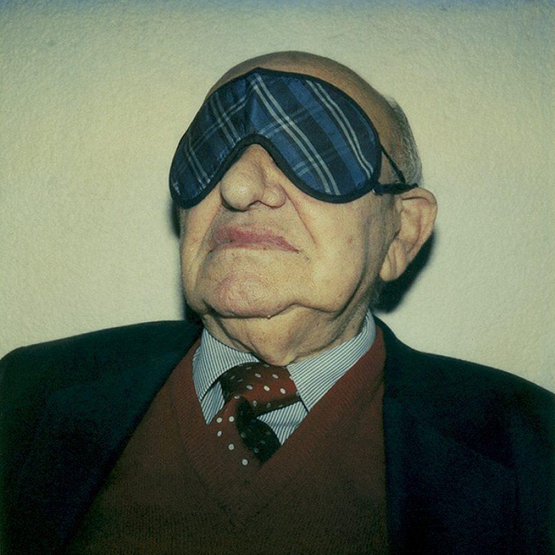 Das Bild zeigt ein Portrait von Marcel Reich-Ranicki von Freddy Langer