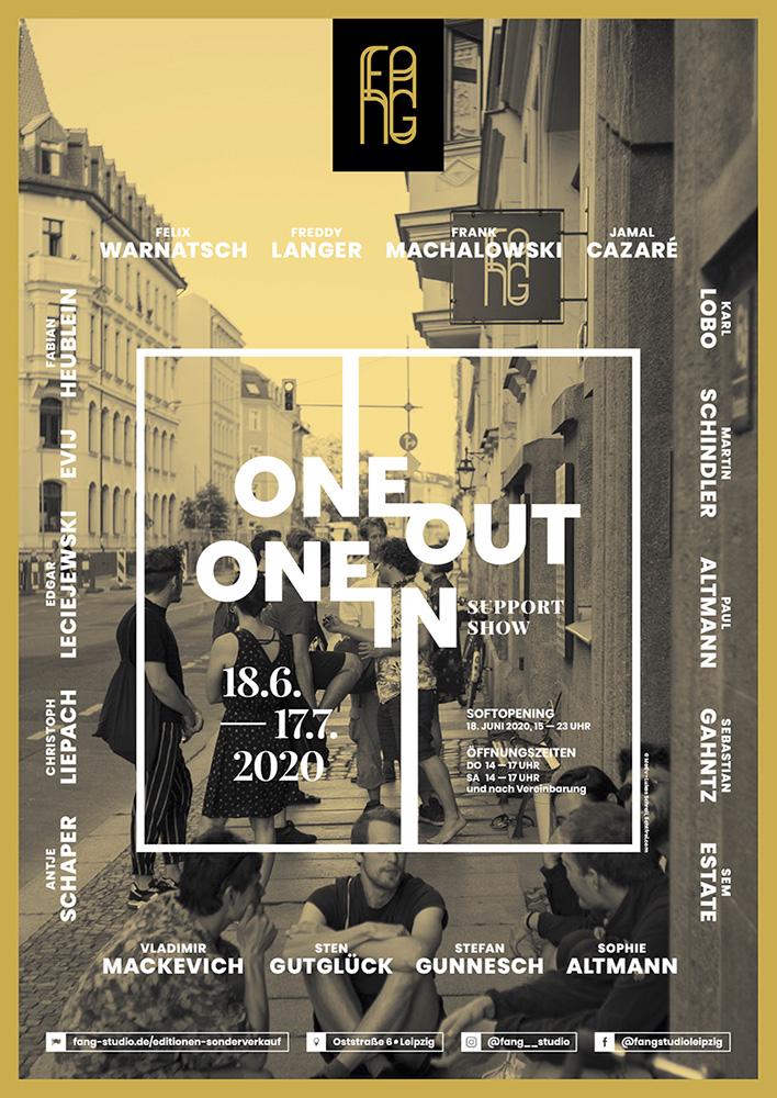 One out – One in – Ausstellungsplakat – Lukas Schroll – lichtfrei