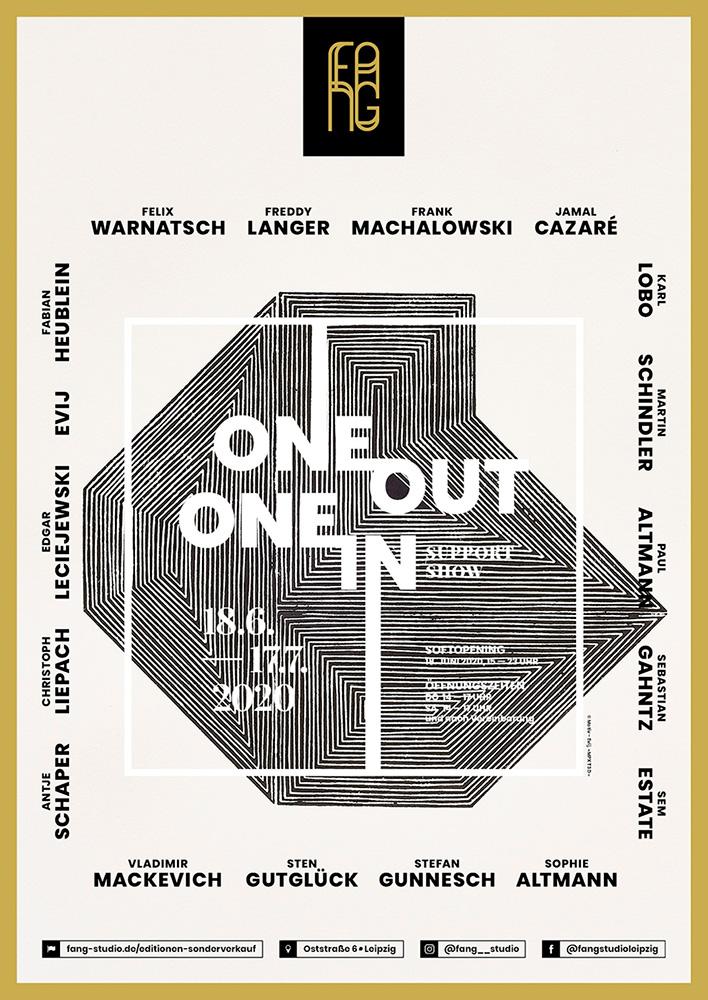 One out – One in – Ausstellungsplakat – Evij