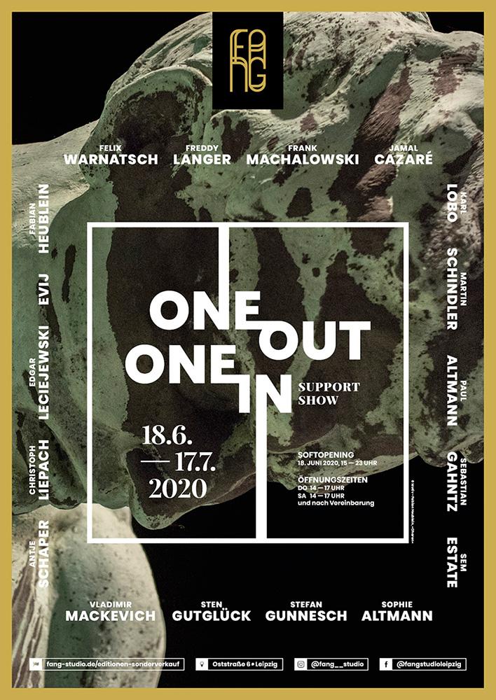 One out – One in – Ausstellungsplakat – Fabian Heublein