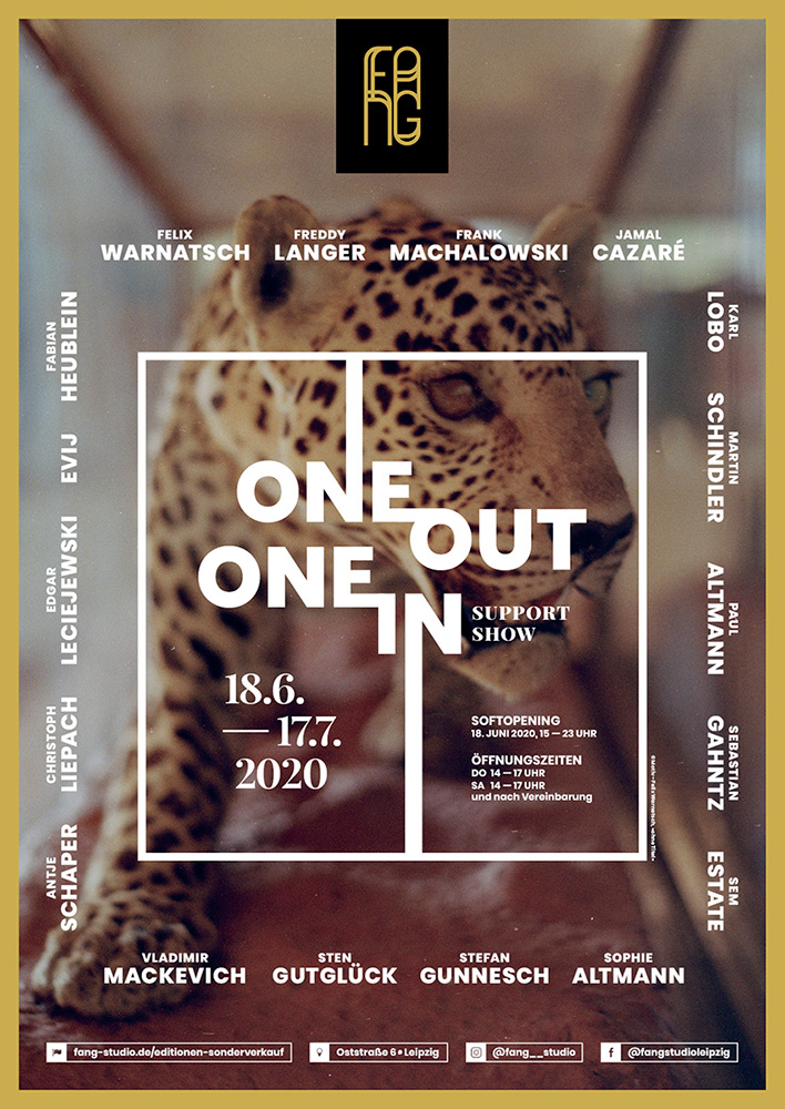 One out – One in – Ausstellungsplakat – Felix Warnatsch