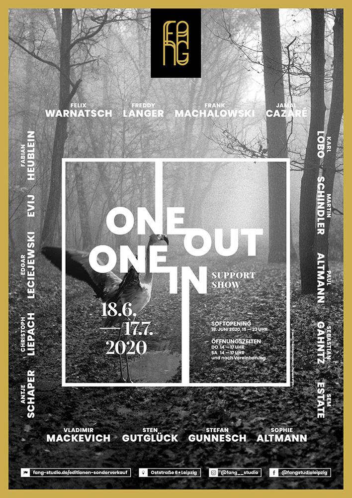 One out – One in – Ausstellungsplakat – Frank Machalowski