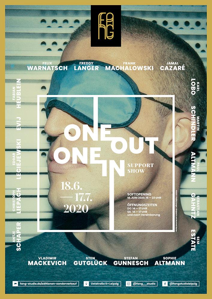 One out – One in – Ausstellungsplakat – Freddy Langer