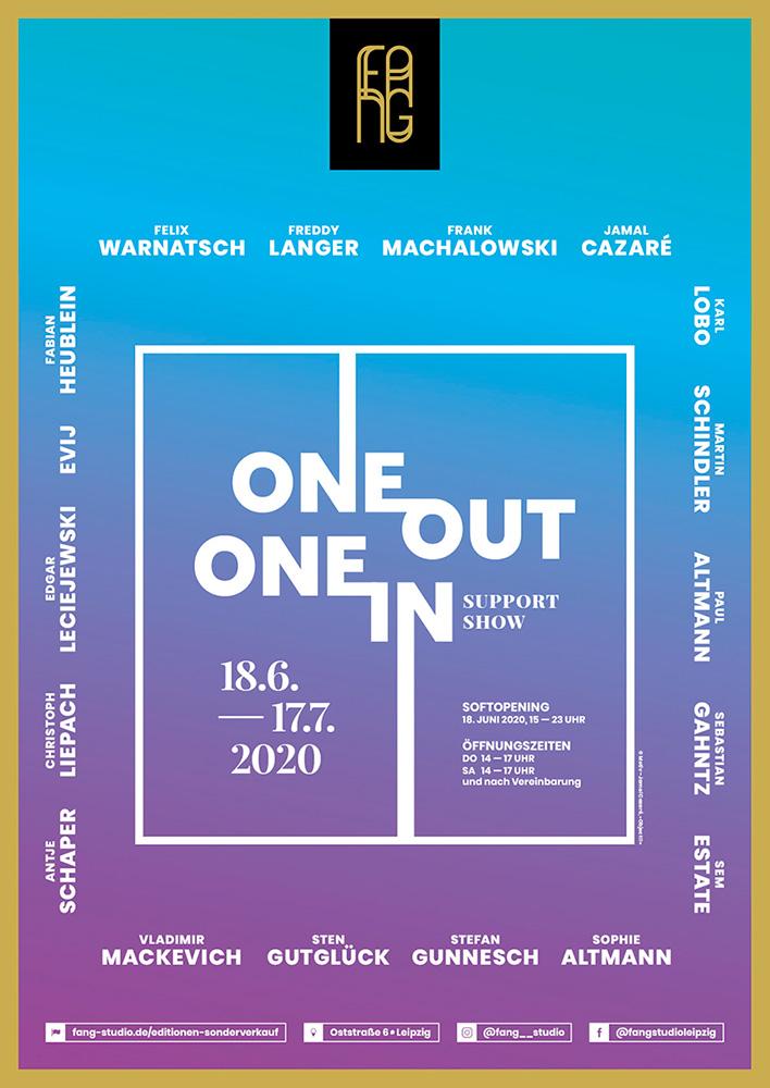 One out – One in – Ausstellungsplakat – Jamal Cazare