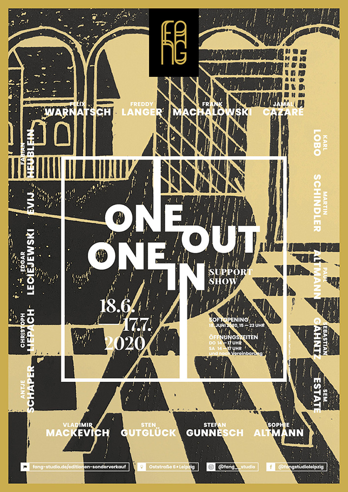 One out – One in – Ausstellungsplakat – Karl Lobo