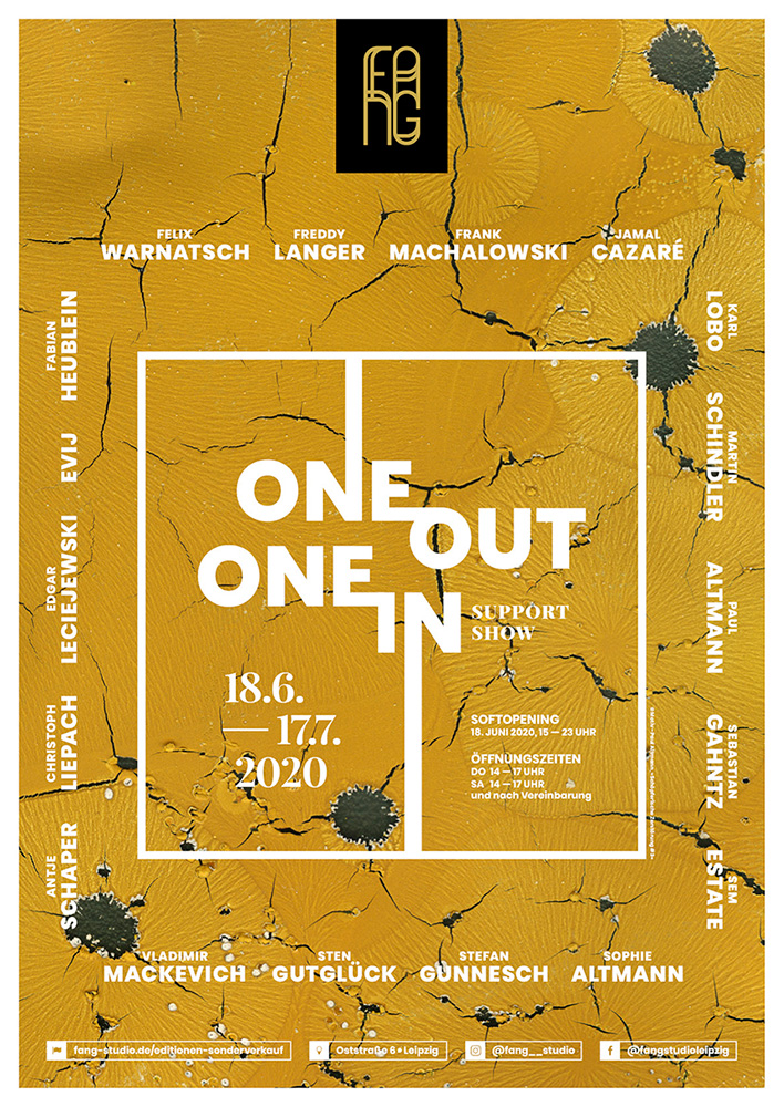 One out – One in – Ausstellungsplakat – Paul Altmann
