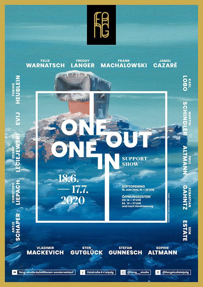 One out – One in – Ausstellungsplakat – Sebastian Gahntz