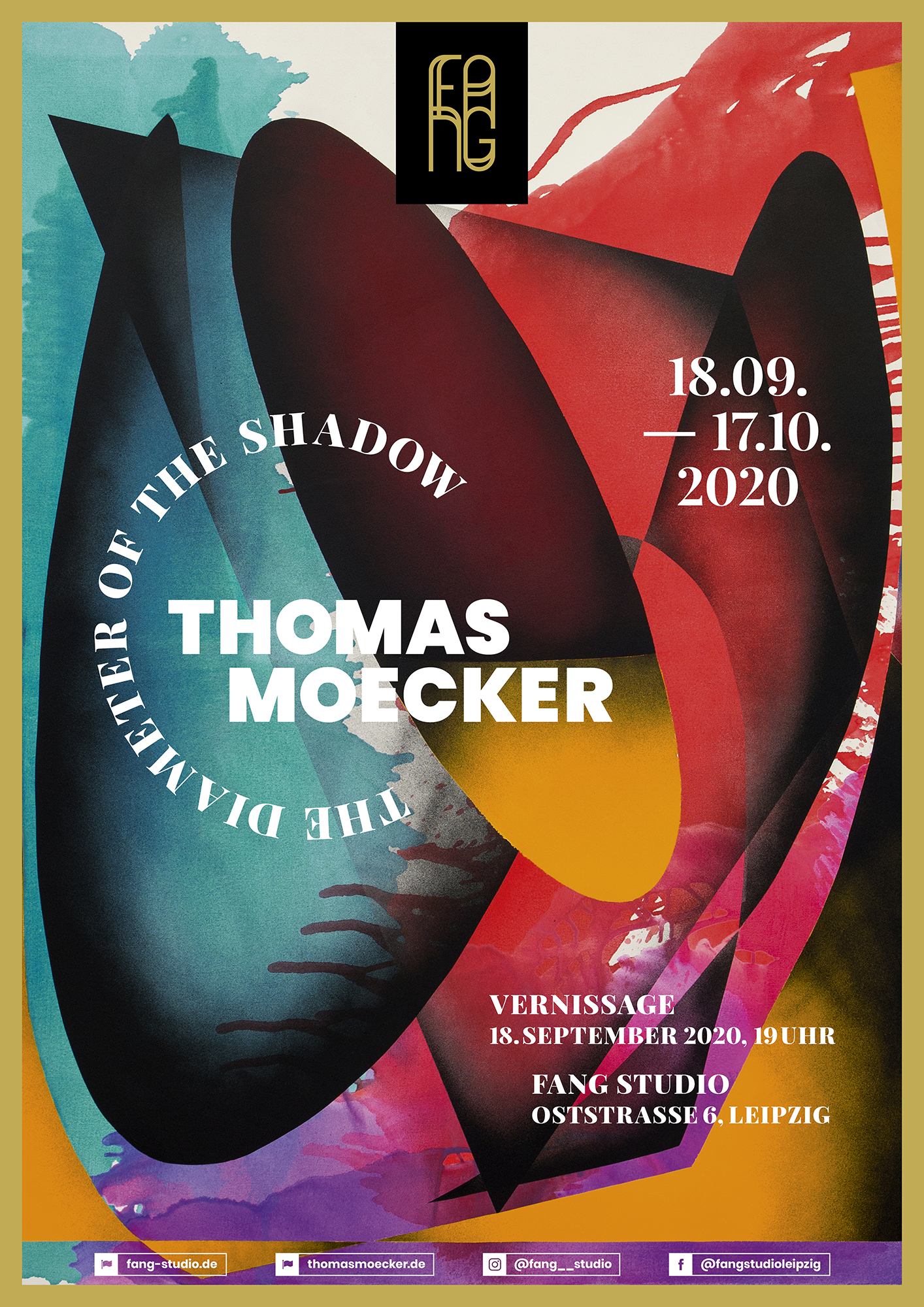 Thomas Moecker – The diameter of the shadow (Ausstellungsplakat)